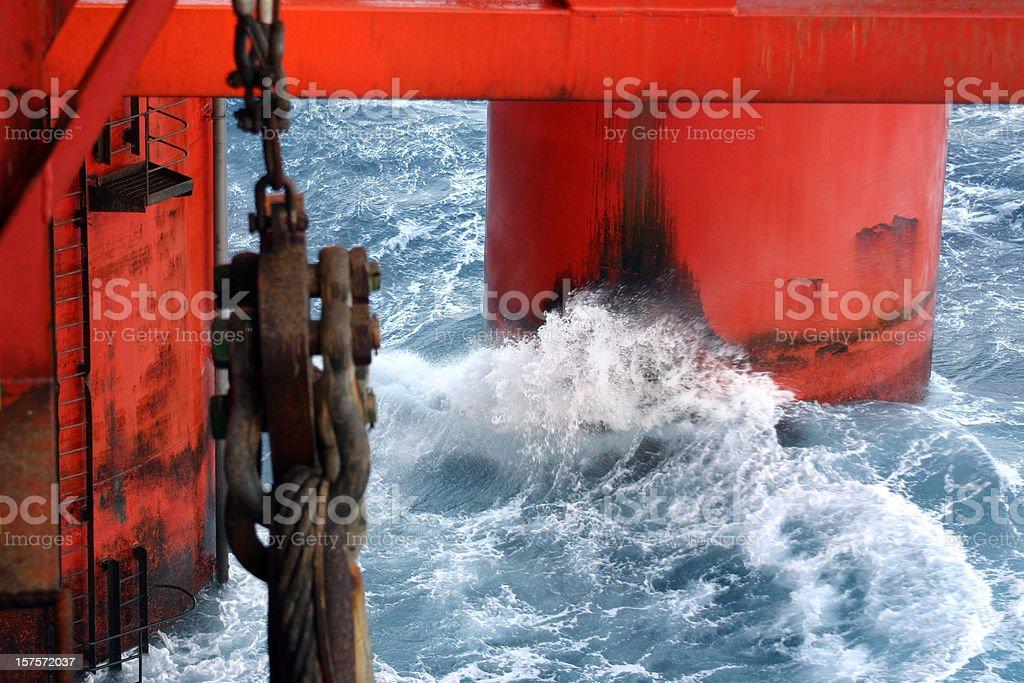 oil platform at sea royalty-free stock photo