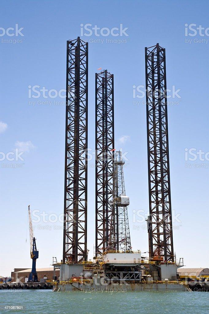 Oil Platform Construction stock photo