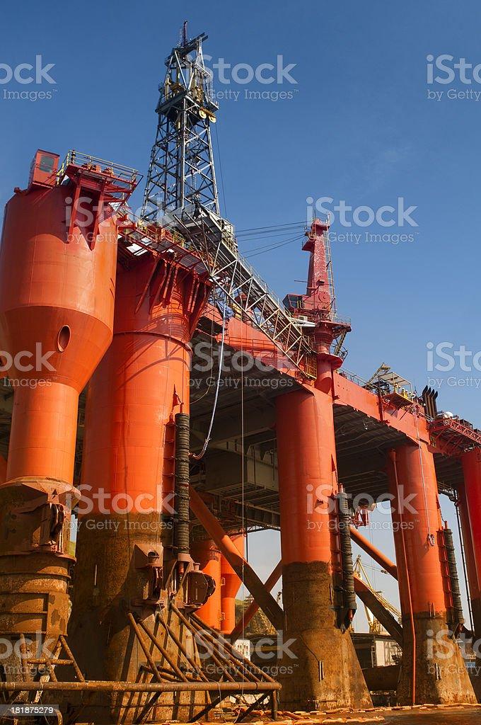 Oil platform royalty-free stock photo