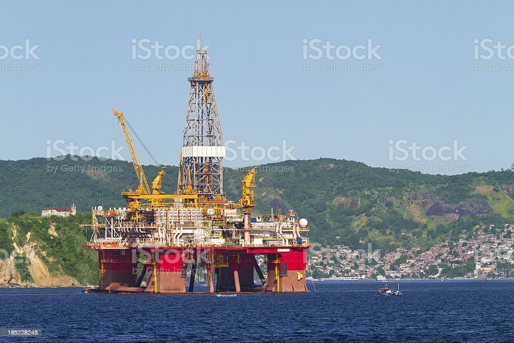 Oil platform royalty-free stock photo