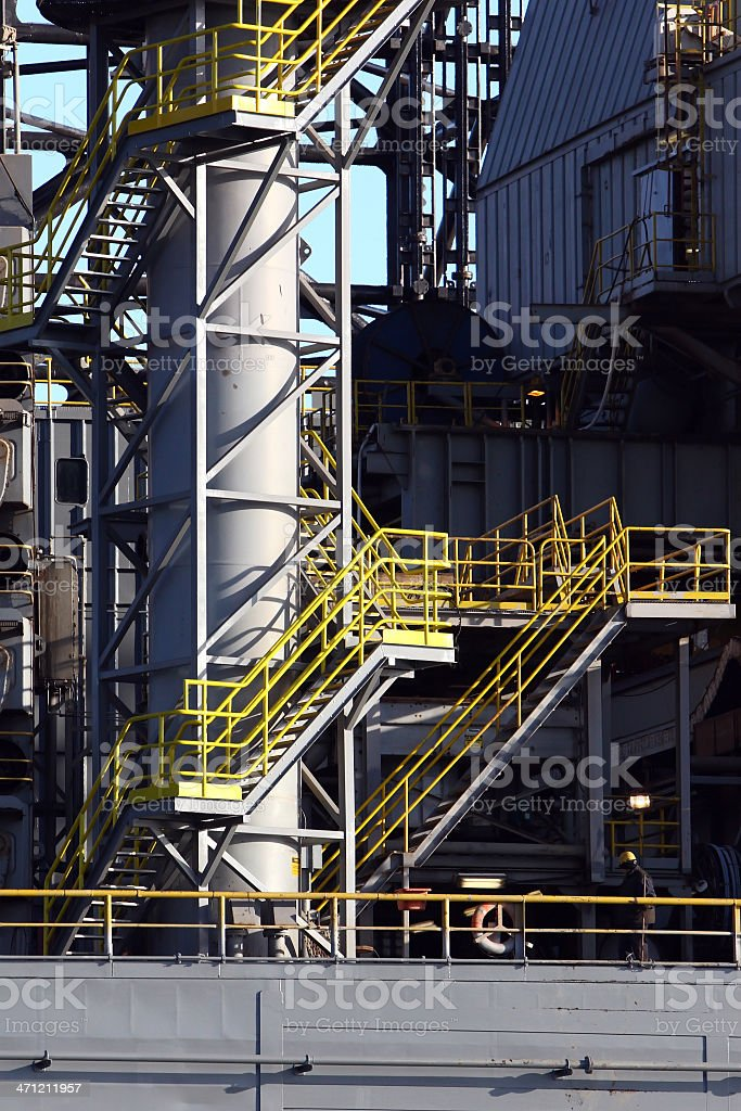 Oil Platform Worker royalty-free stock photo