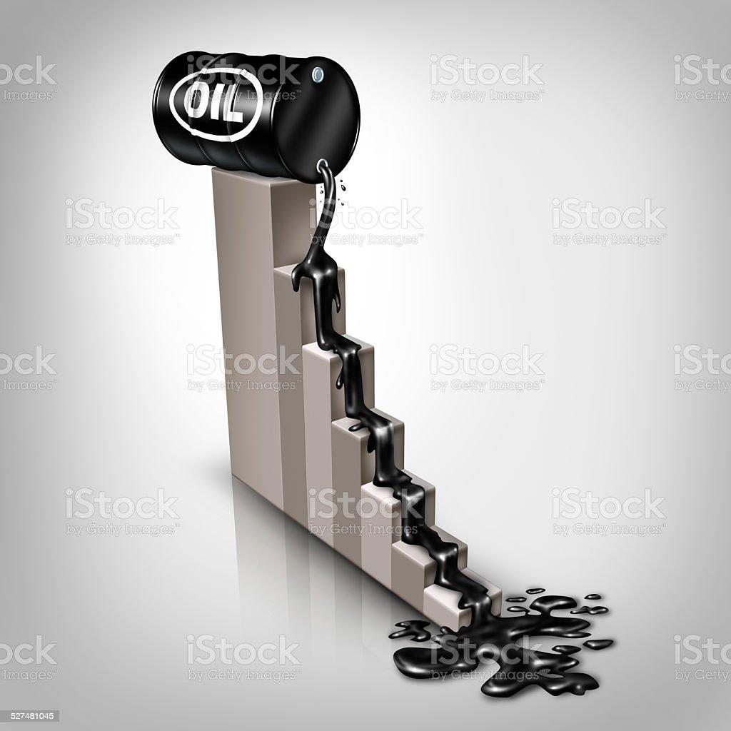 Oil Price Falling stock photo