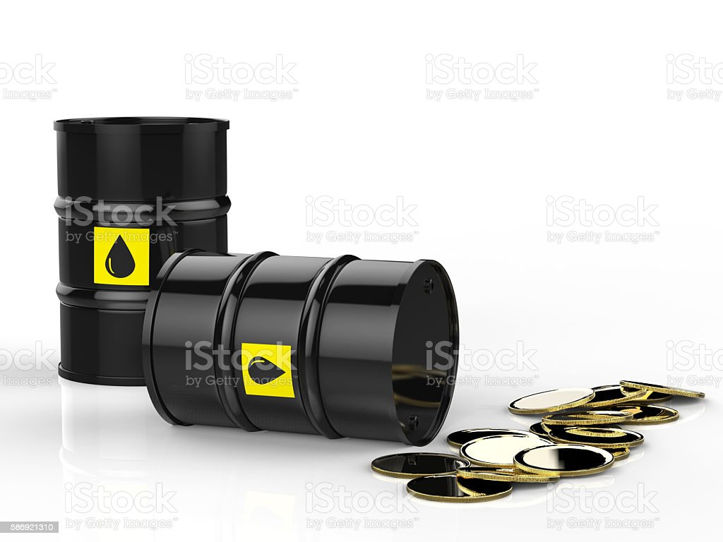oil price falling stock photo