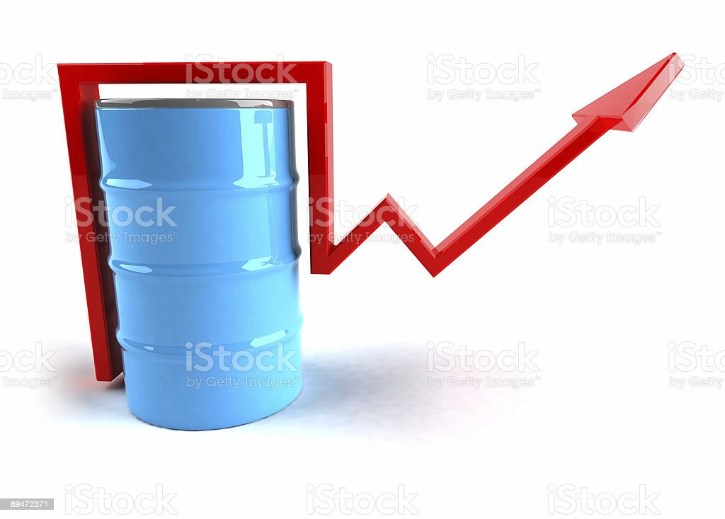 Oil price going up royalty-free stock photo