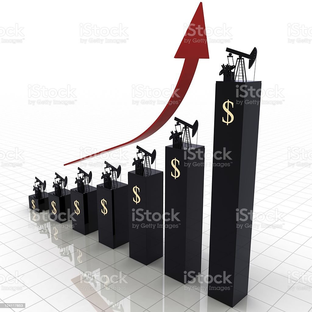 Oil Prices Chart stock photo