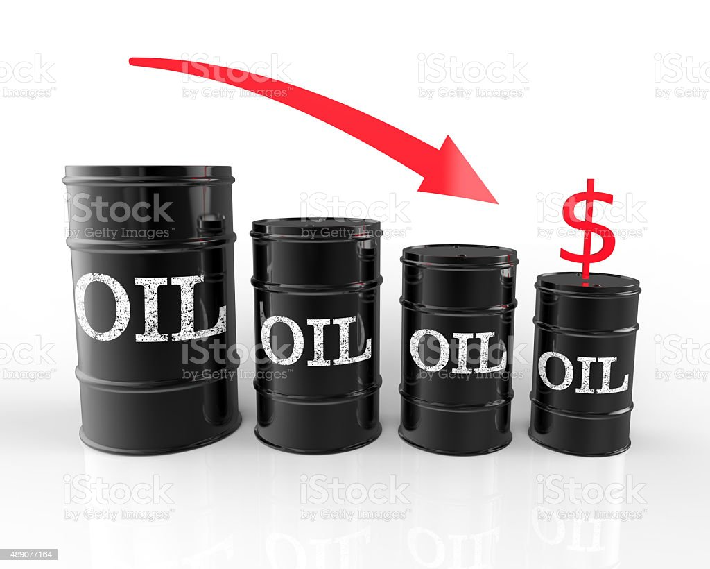 Oil Prices Drop stock photo