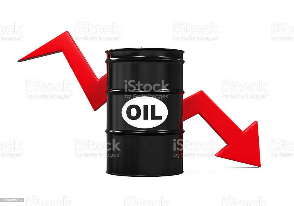 Oil Prices Dropping Illustration stock photo