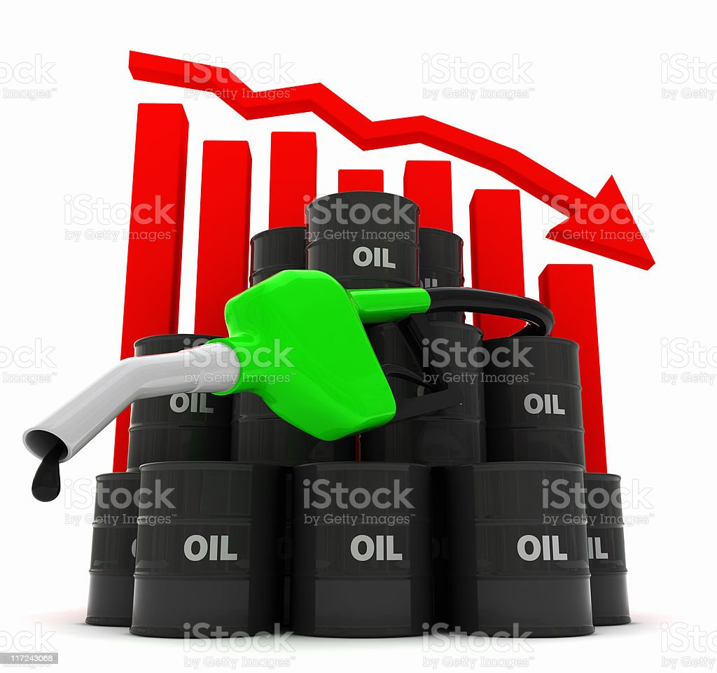 Oil prices - Falling royalty-free stock photo