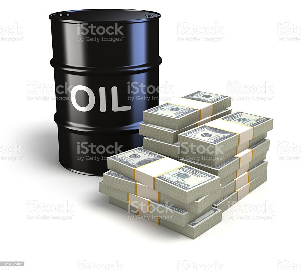 Oil prices royalty-free stock photo