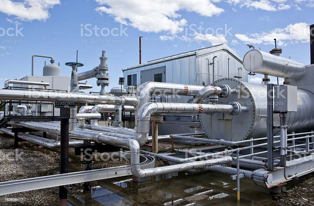 Oil Processing royalty-free stock photo