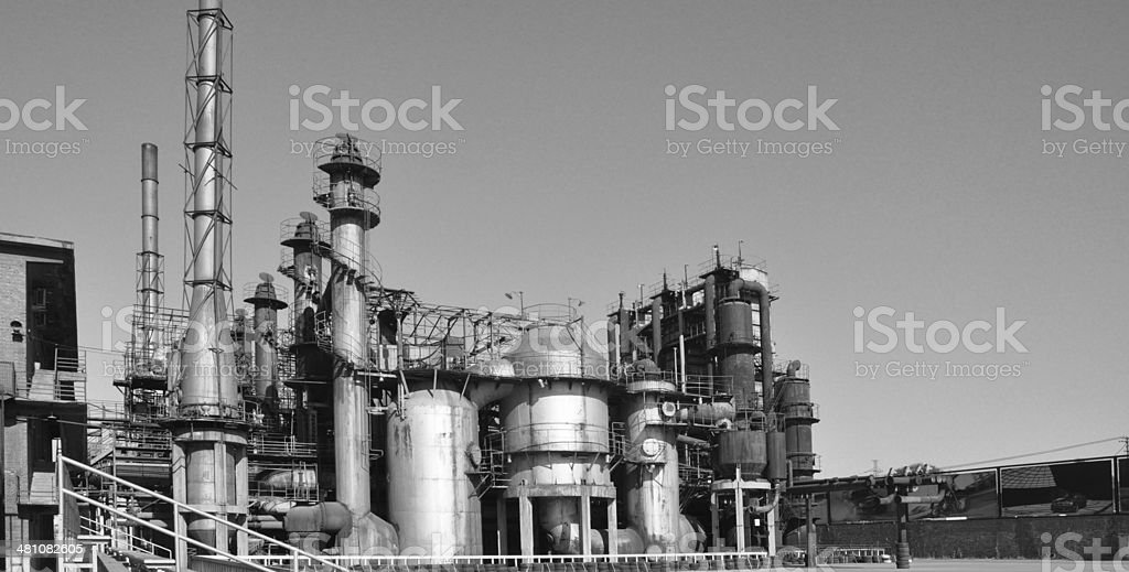 Oil processing plant royalty-free stock photo