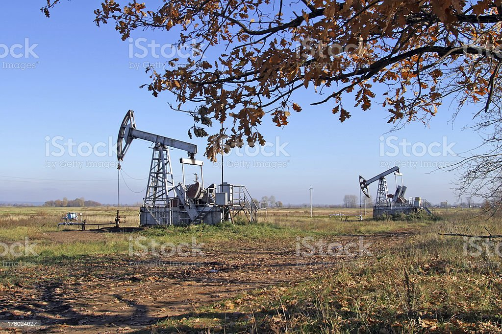 Oil production royalty-free stock photo