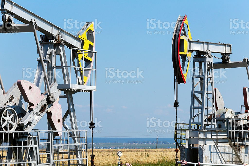 oil production stock photo