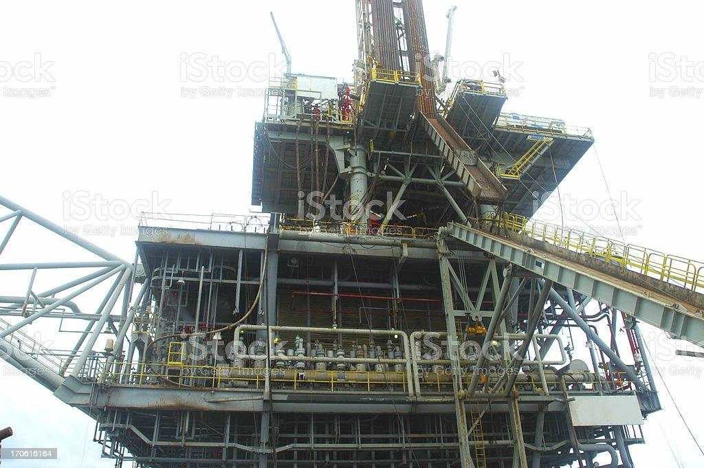 Oil production platform royalty-free stock photo