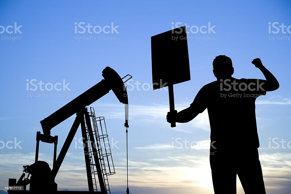 Oil Protest stock photo