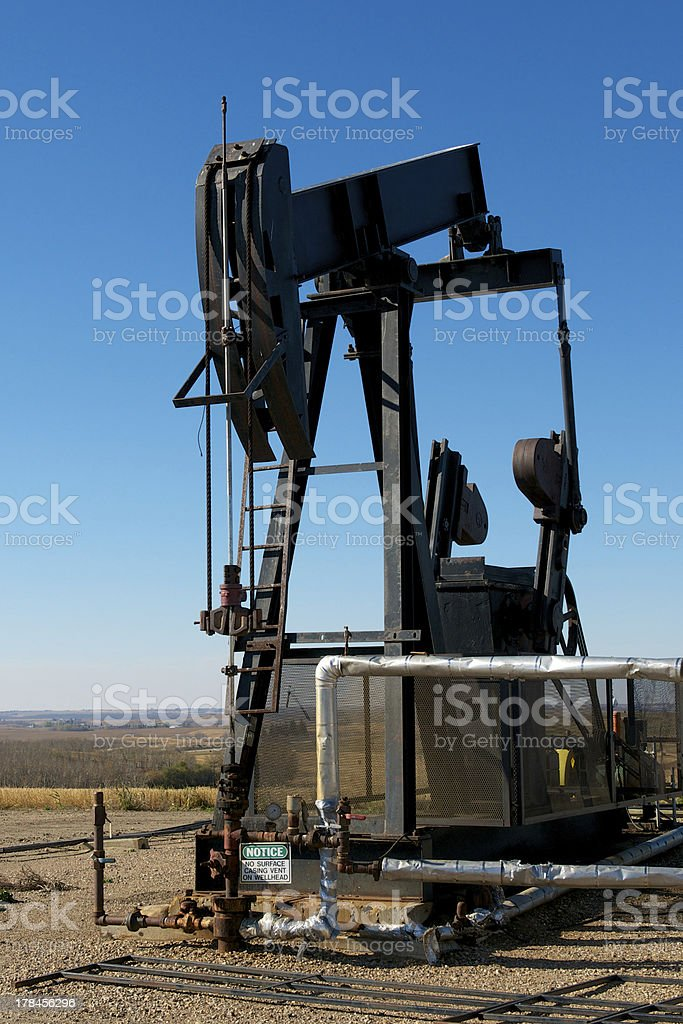 Oil Pump and Pipeline royalty-free stock photo
