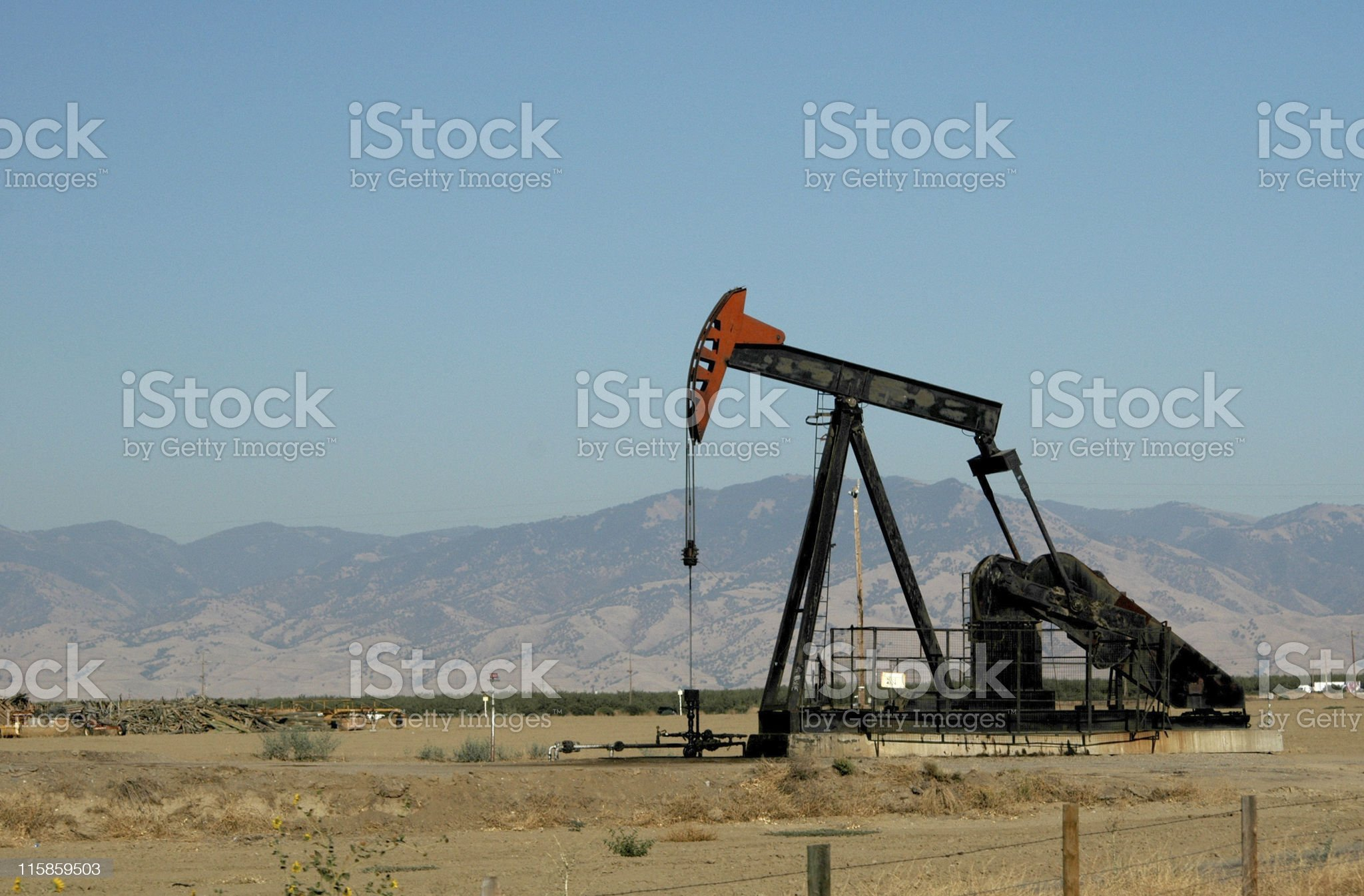 oil pump, Bakersfield, California royalty-free stock photo