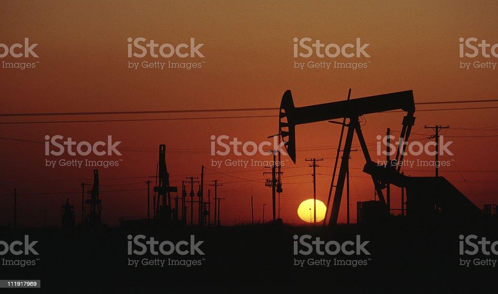 Oil Pump, California royalty-free stock photo