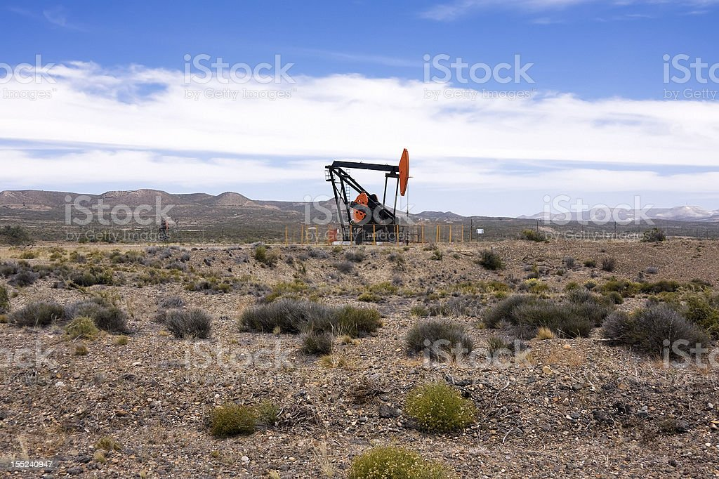 Oil pump in Patagonia royalty-free stock photo
