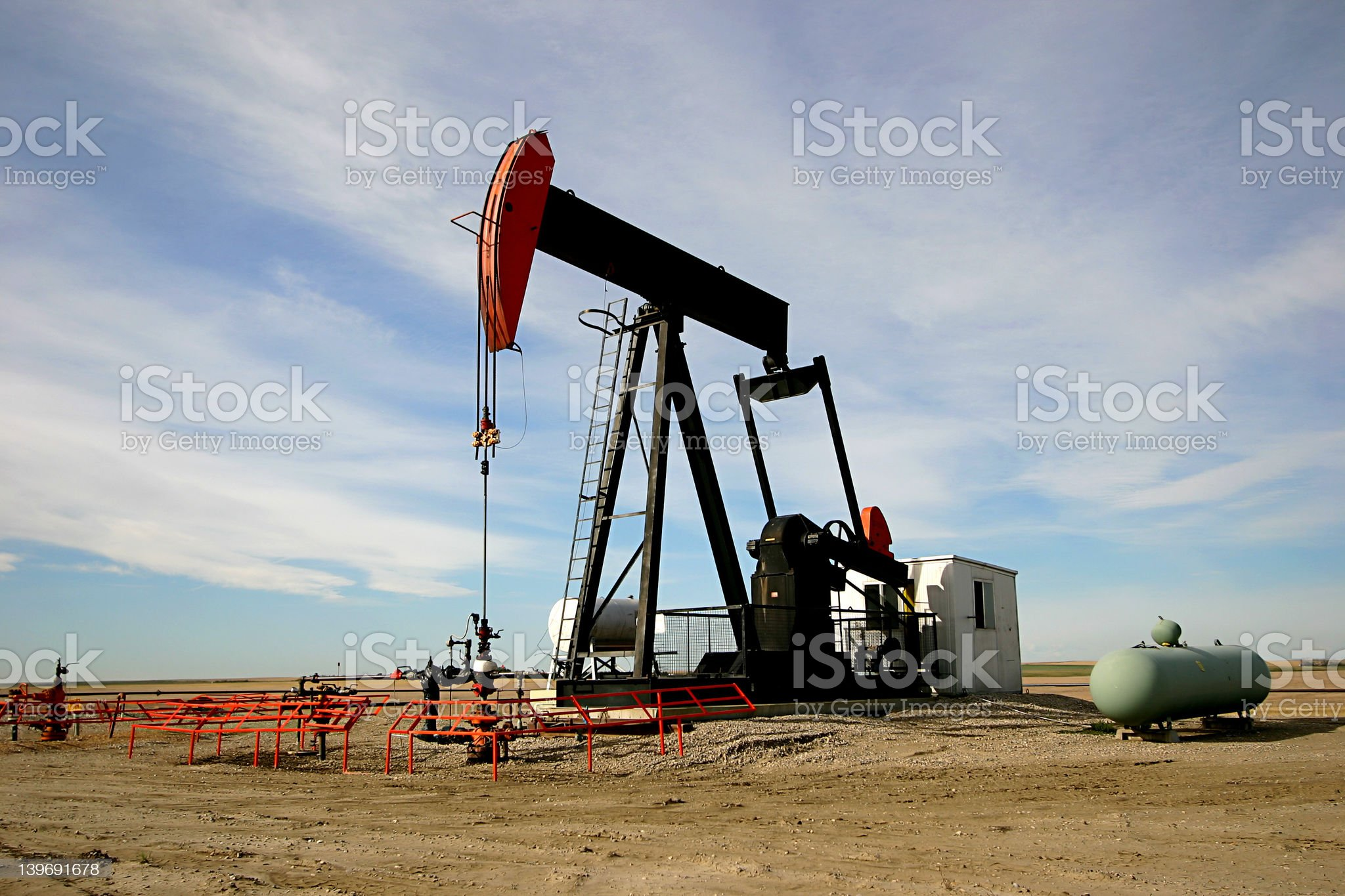 Oil Pump Jack. royalty-free stock photo