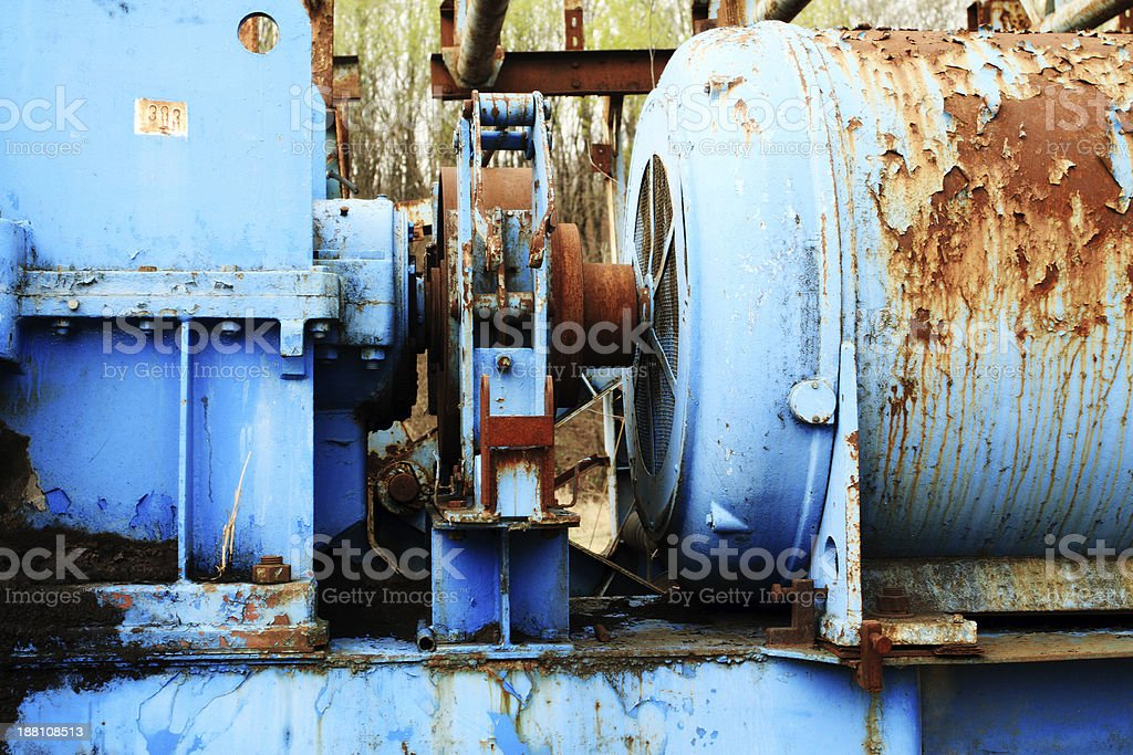 oil pump motor royalty-free stock photo