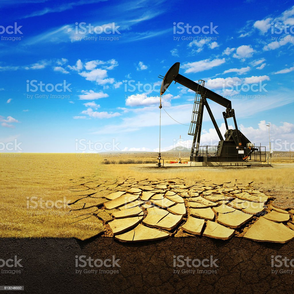 Oil pump oil rig energy industrial machine for petroleum stock photo