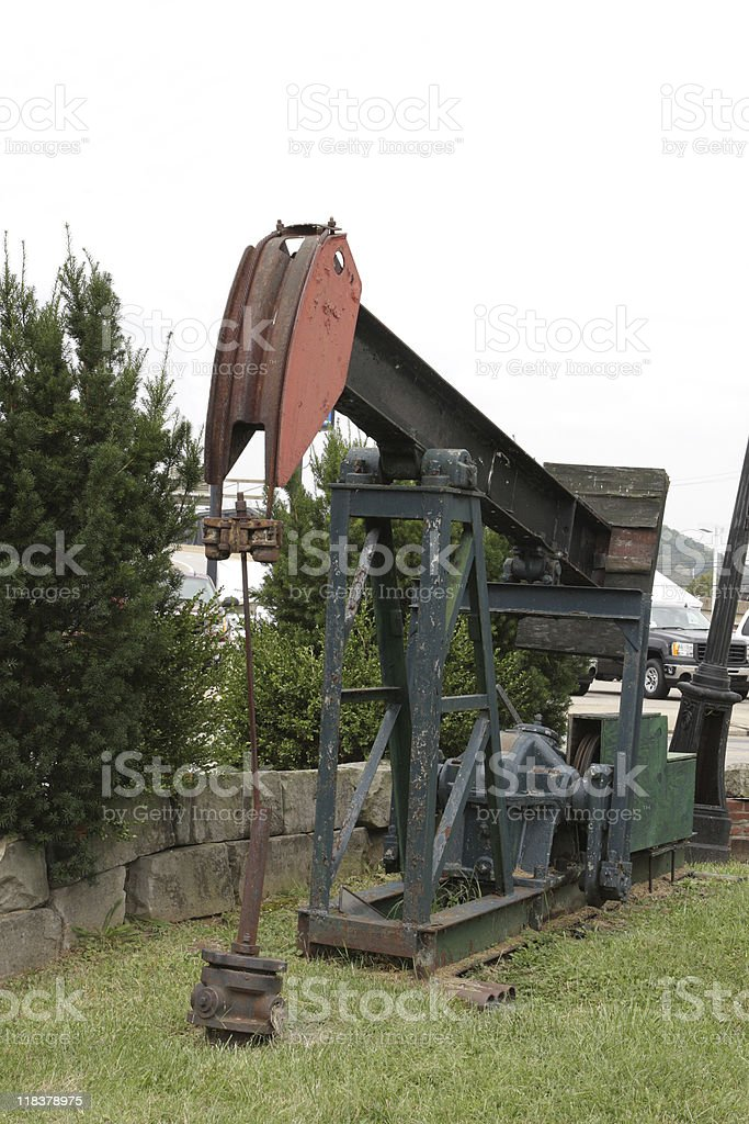 Oil pump royalty-free stock photo
