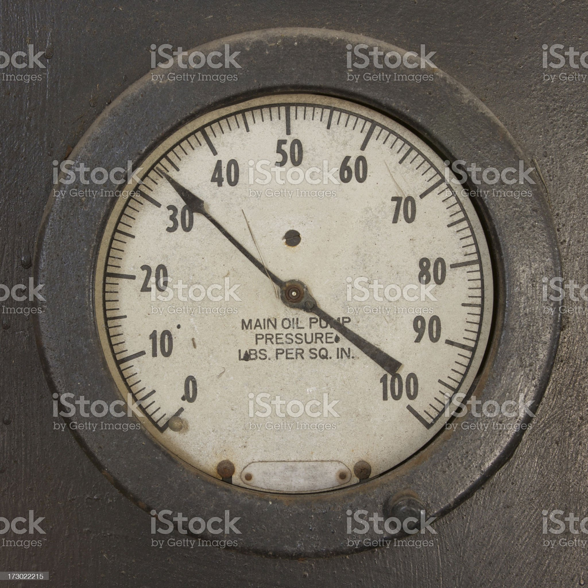oil pump pressure gauge royalty-free stock photo