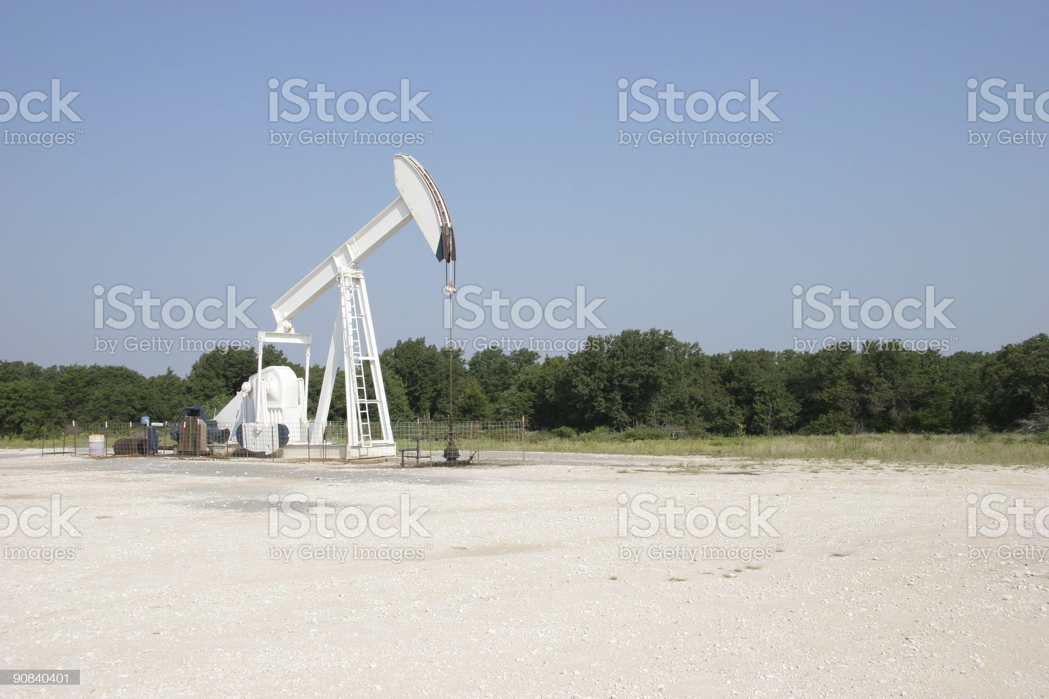 Oil Pump Sky and Ground royalty-free stock photo