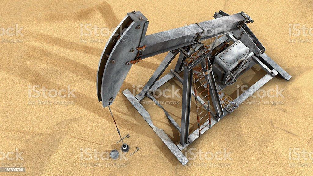 Oil Pump Top Shot 3D royalty-free stock photo