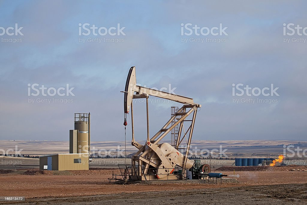 Oil Pumper stock photo