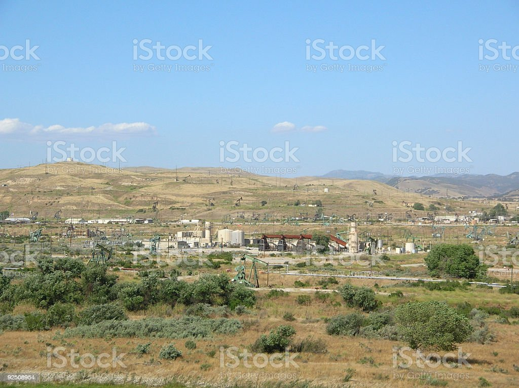 Oil pumping equipment royalty-free stock photo