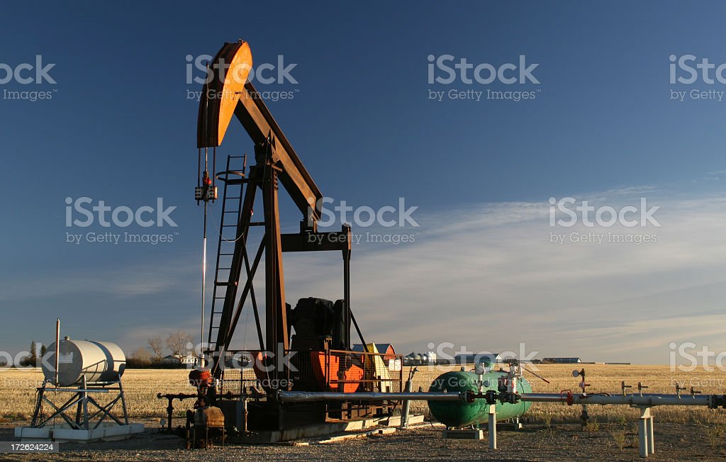 Oil Pumpjack in Texas royalty-free stock photo