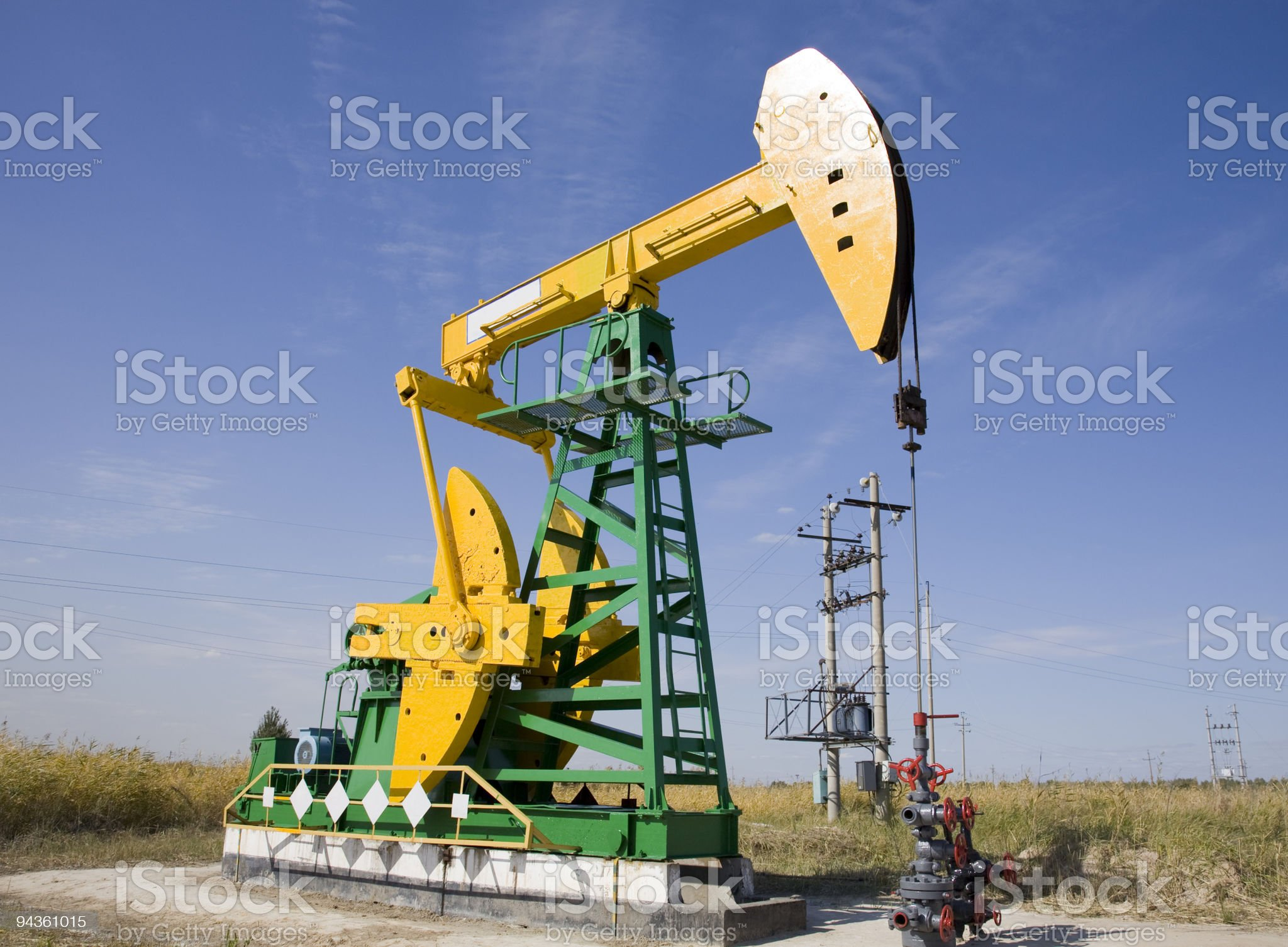 oil pumpjack royalty-free stock photo