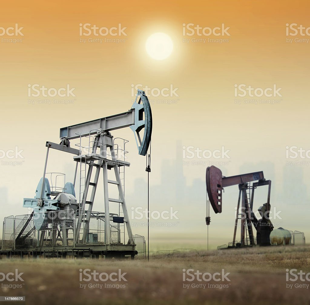 oil pumps industry royalty-free stock photo