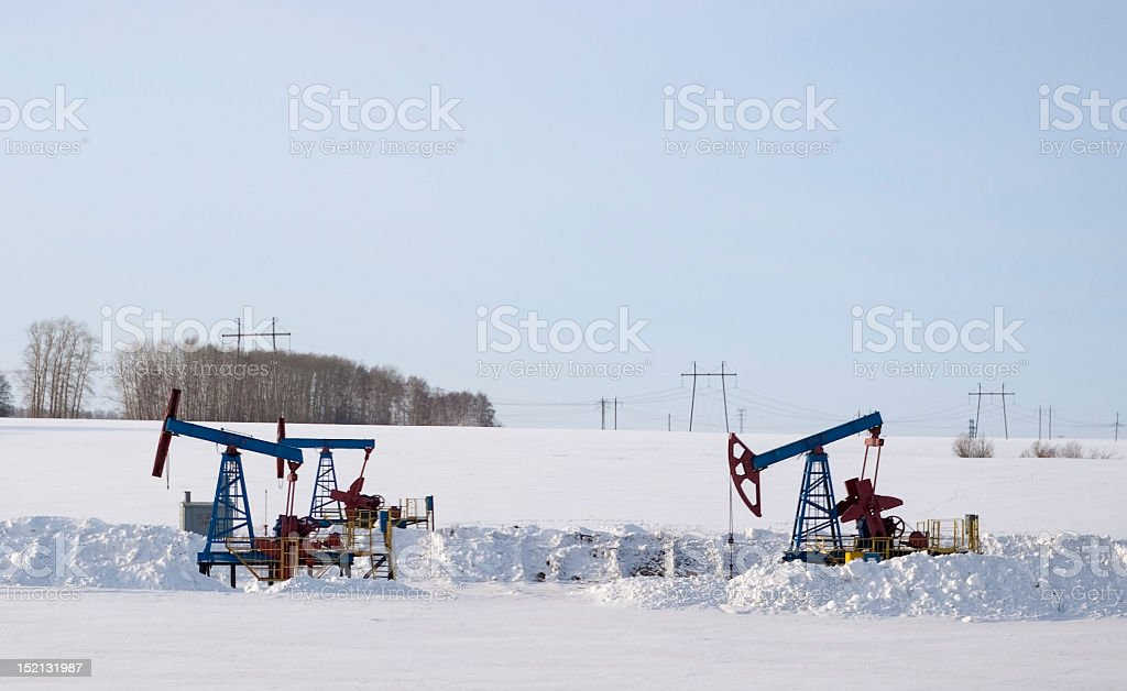 Oil pumps. royalty-free stock photo