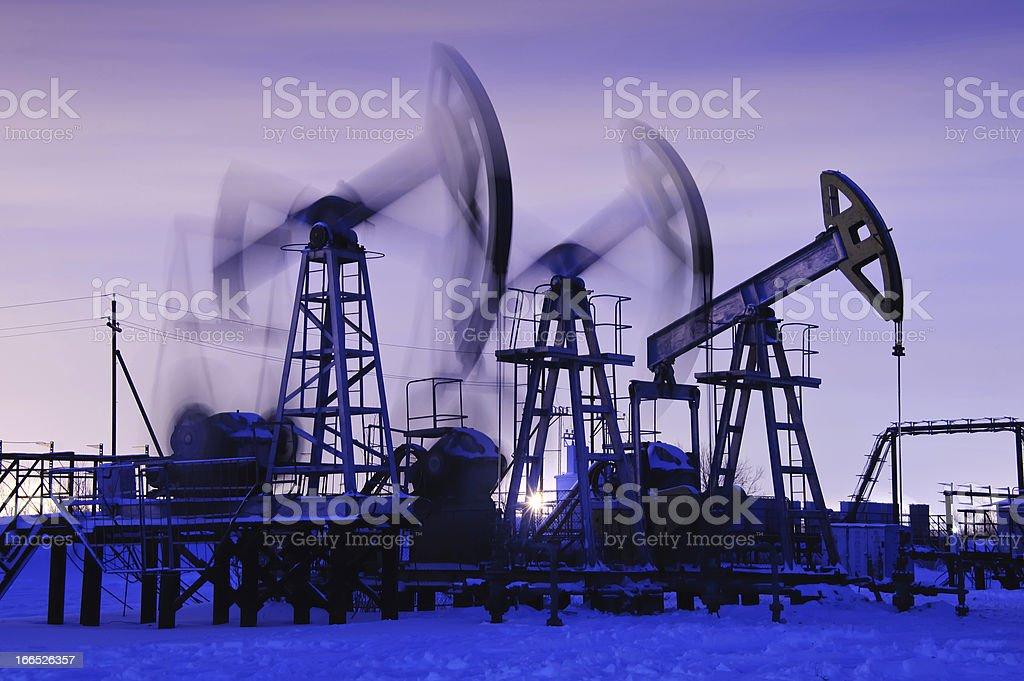 oil pumps stock photo