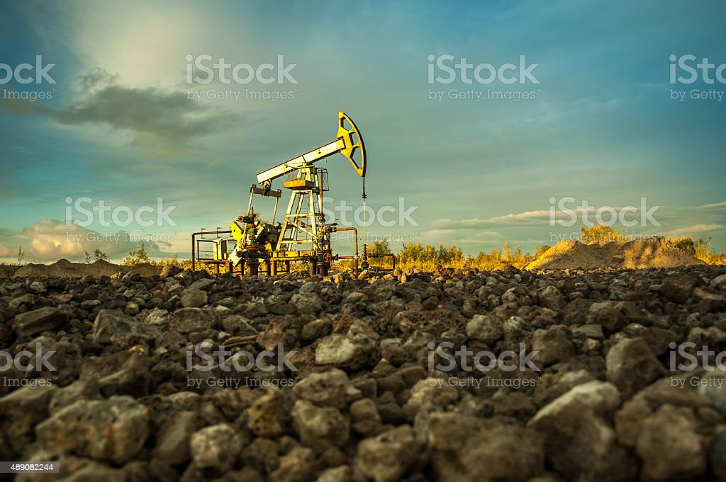 Oil pumps. stock photo