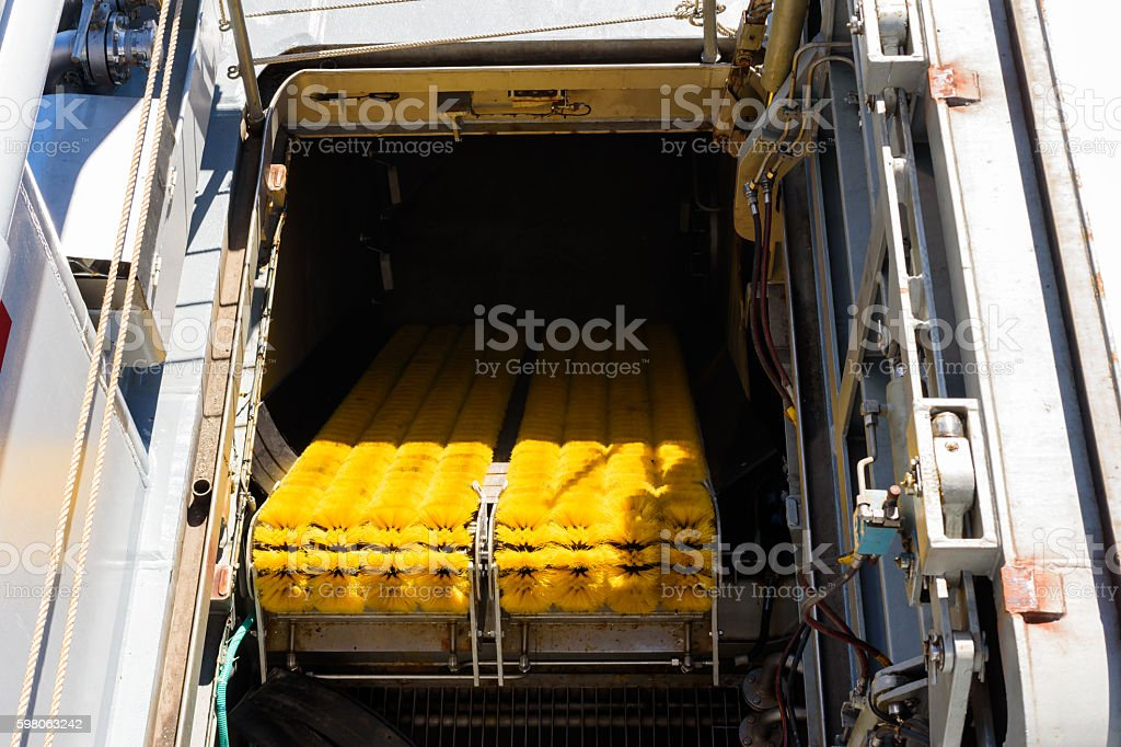 Oil recovery equipment stock photo