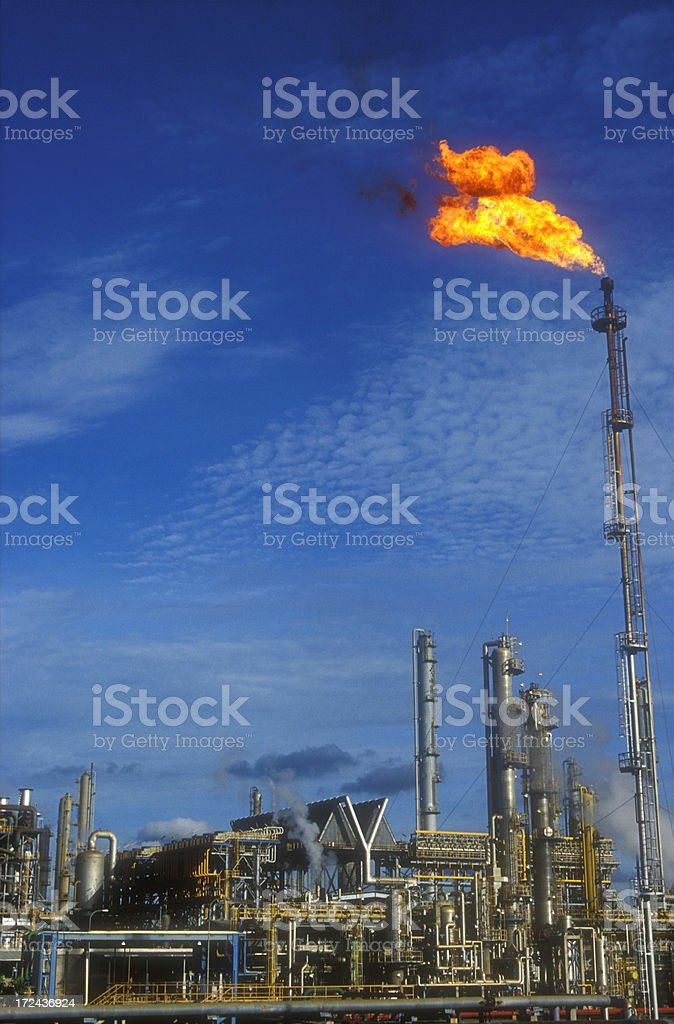 Oil refinary royalty-free stock photo