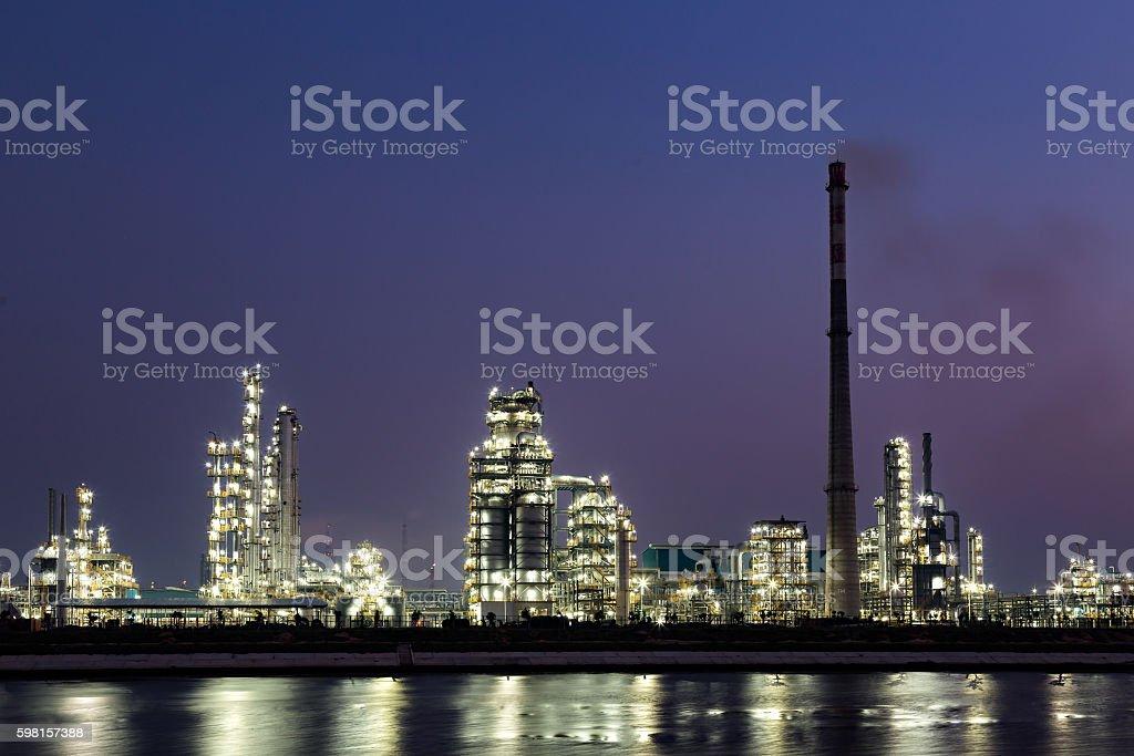 Oil refineries stock photo
