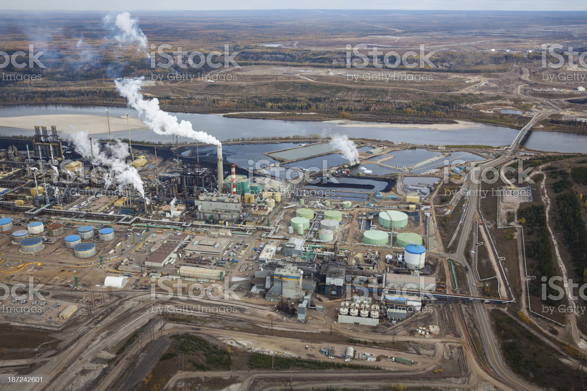 Oil Refinery, Aerial Photo royalty-free stock photo