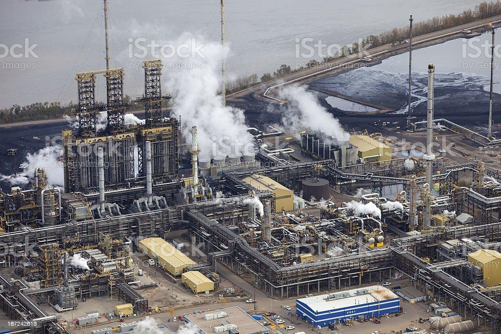 Oil Refinery, Aerial Photo stock photo