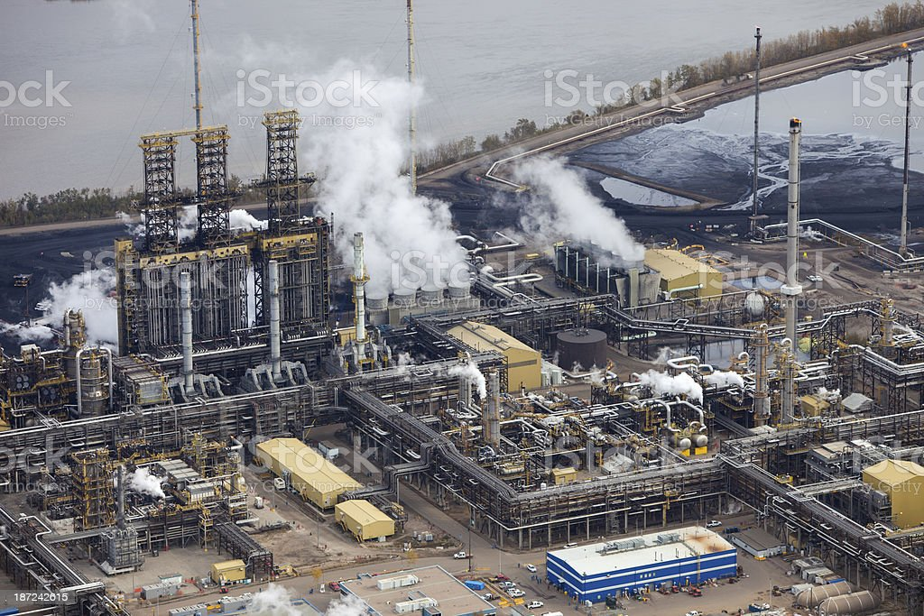 Oil Refinery, Aerial Photo stock photo