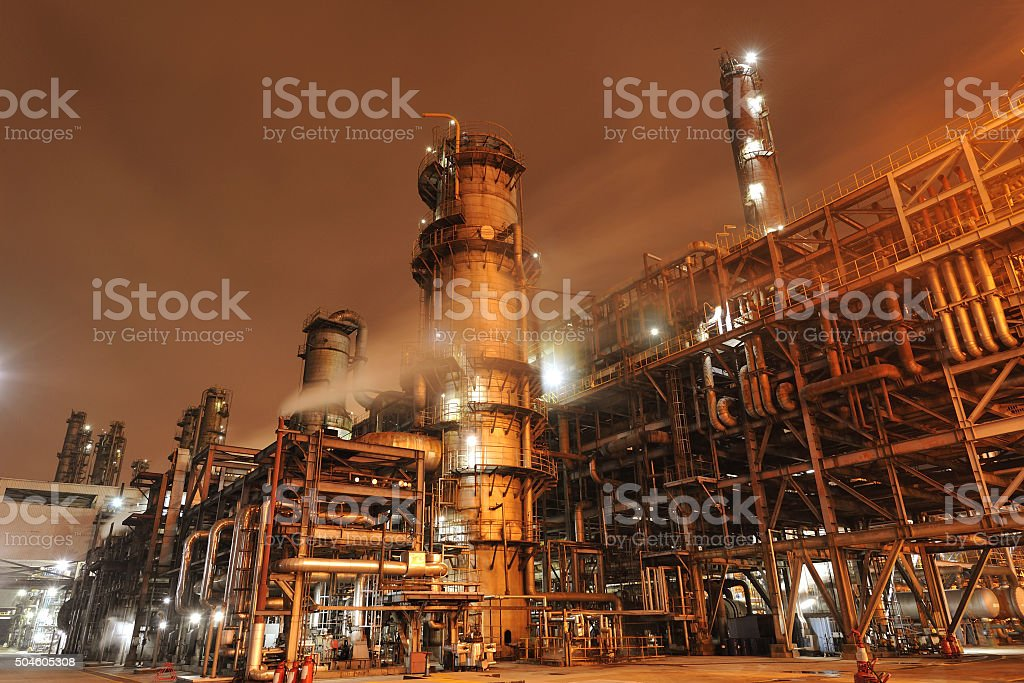 Oil Refinery, Chemical and Petrochemical plant stock photo