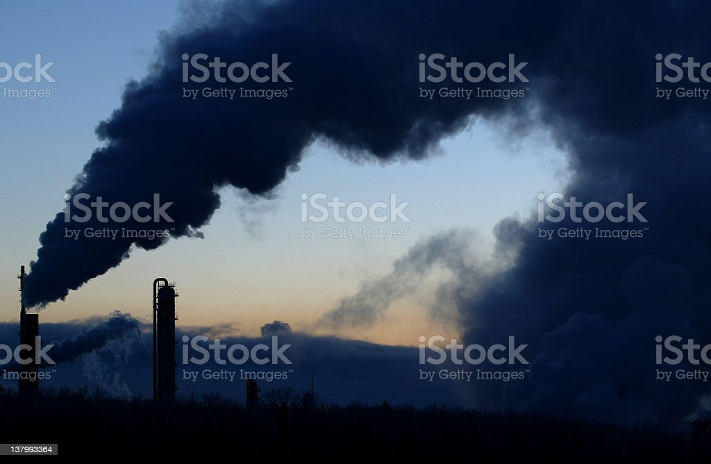oil refinery emissions royalty-free stock photo