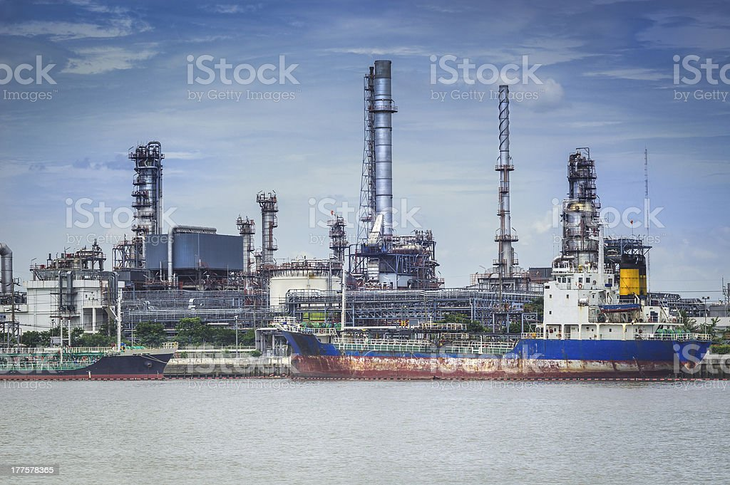 Oil refinery factory royalty-free stock photo
