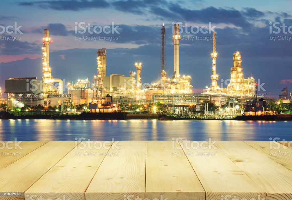 Oil Refinery Factory stock photo