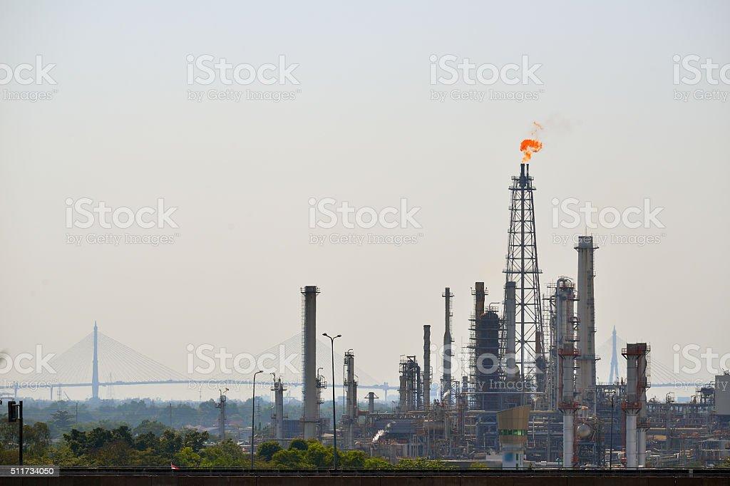Oil Refinery in Bangkok stock photo