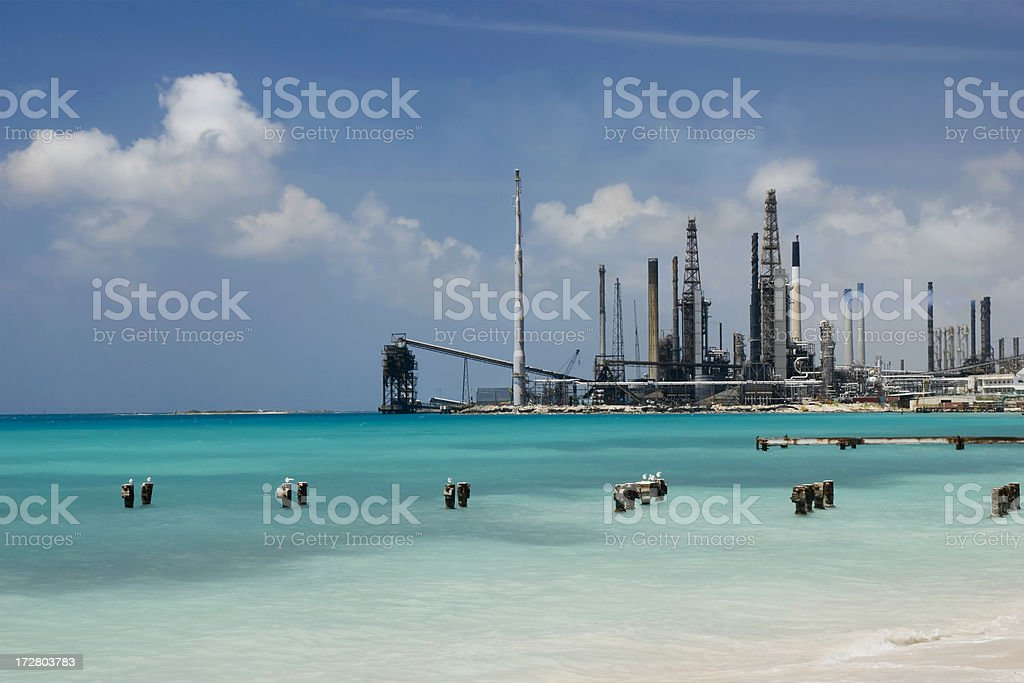 Oil Refinery in Paradise II royalty-free stock photo